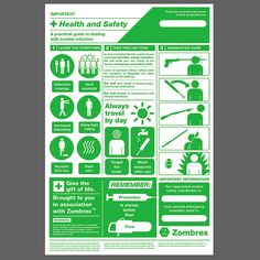 Zombie Health and Safety Poster