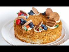 "Honey Cake with Custard Creme - Торт ""Медовик"" - Tatyanas Everyday Food"