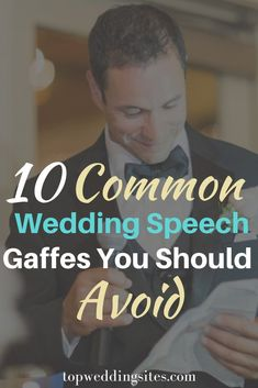 Delivering a good wedding speech is no easy feat. That's why you should know all about the 10 common wedding speech gaffes to avoid, so that you can deliver a memorable wedding speech. Without the embarrasing mistakes in tow. Plan Your Wedding, Budget Wedding, Wedding Blog, Diy Wedding, Wedding Reception, Wedding Sites, Wedding Speech Quotes, Best Wedding Speeches, Unique Weddings