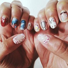 Pin for Later: Celebrate Hanukkah With These Jewish Holiday Nail Art Looks Don't Pass Over My Nail Art Source: Instagram user hannahbronfman