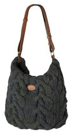 Bolso Diy Tote Bag, Diy Handbag, Craft Bags, Jute Bags, How To Purl Knit, Crochet Handbags, Fabric Bags, Knitting Accessories, Knitted Bags