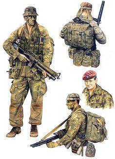 """""""Special Air Service: • Patrol member, 4 Tp NZSAS, 1970 • Patrol member, 1 Sqn…"""