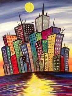 Paint Nite - Sky Scrape