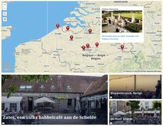 Map interface for bunch of related articles on the favorite terraces of De Tijd editors