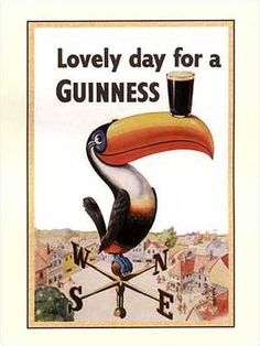 my favourite ad character ever, the Guinness toucan Good Advertisements, Advertising, Erin Go Braugh, Irish Eyes Are Smiling, Luck Of The Irish, Guinness, Vintage Ads, Make You Smile, Bar