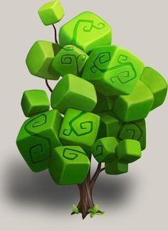 Tree, Taras Chmeruk on ArtStation Game Design, Prop Design, Modelos Low Poly, Modelos 3d, Environment Concept, Environment Design, Blender 3d, Design Creation, 2d Game Art