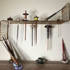Spring Cleaning: Round Up Your Fiber Tools Drop Spindle, Plastic Bins, Tidy Up, Wall Brackets, Hand Spinning, Wall Spaces, Spring Cleaning, Display Shelves, Crafting