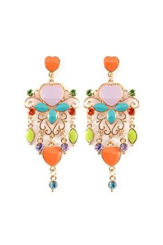 Bea Chandelier Earrings in Sweetness