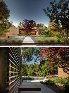 Architecture firm Bohlin Cywinski Jackson have designed this modern family house (with guest house) in Los Altos, California, that's a re-interpretation of a Northern Californian ranch style home.