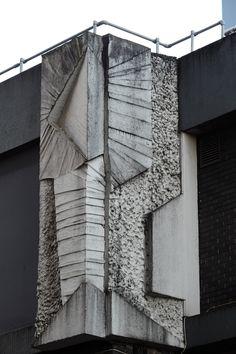 "scavengedluxury: ""Concrete mural on Berkley Street, Birmingham. William George Mitchell or a good pastiche of his style? December 2014. """