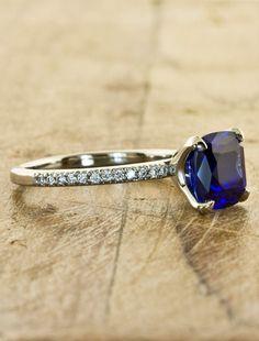 Unique Custom Sapphire Engagement Rings by Ken & Dana Design - Jessamine side view