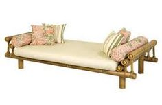 Resultado de imagem para rack de bambu Bamboo Sofa, Bamboo Furniture, Deck Furniture, Unique Furniture, Home Decor Furniture, Painted Furniture, Furniture Design, Bamboo House Design, Bamboo Light