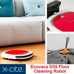 """The D35 make your life easier, the first robotic vacuum designed for kitchen and bare-floor cleaning. DEEBOT 3 Series feature """"Direct Suction"""" vacuuming without a main agitator brush to tangle with human hair or pet hair. Available now at X-cite for only 89 KD"""