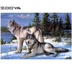 3D DIY Diamond Painting The wolf Wild Unite Mosaic Embroidery household yarn dyed Canvas wall sticker Handicraft fabric AT401