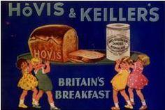 Britain`s Breakfast Advertising - Hovis bread ad graphic.