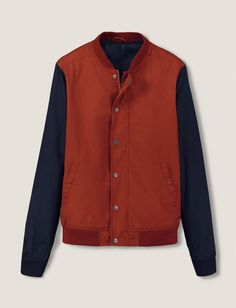 Blouson teddy color-block Blouson Teddy, Jeans, Sportswear, Orange, Jackets, Color, Fashion, Men Wear, Mantle