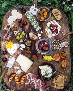 I'm currently brainstorming summer cheese boards, which are part of the ultimate joys of picnicking and hiking. My Pinterest board has been alive with cheese board inspiration recently, including this amazing forest nymph cheese scene by @halfbakedharvest. The whole collection: pinterest.com/cheesegrotto