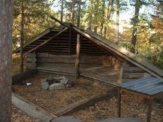 Swedish fire pit shelter