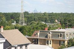 I recently toured the former Masonic lodge (Florence No 87) on Broad Street for an upcoming feature on the new owners, XS/RE's adaptive reuse efforts. What a great building and downtown location! Check out the view of the Philadelphia skyline from their roof! Only 9 miles away... as the crow flies.  I wonder how many other locations in Woodbury could potentially utilize this million dollar view!?