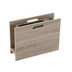 Revistero nórdico en madera #revistero #salon #casa #versa | Nordic style magazine rack #rack #livingroom #home #versa