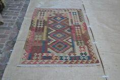 Multi-color Afghan Kilim Area Rug Hand Woven 6'x3' Wool Floor Carpet Kelim #3209 #Unbranded #TraditionalPersianOriental