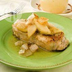 Côtes de porc aux pommes @ allrecipes.fr