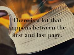 Between the first and last pages...