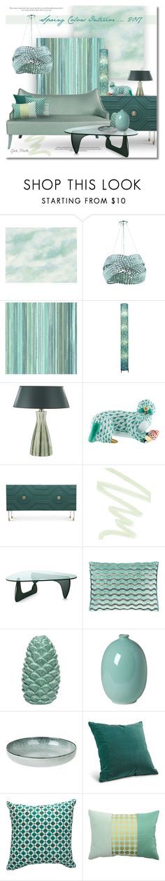 """Spring Colors Interior ... 2017"" by greta-martin ❤ liked on Polyvore featuring interior, interiors, interior design, home, home decor, interior decorating, Elegant Lighting, Universal Lighting and Decor, Herend and Dolce&Gabbana"