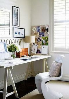 Home office design. Small home office. Work from home Home Design, Home Office Design, Home Office Decor, Home Interior Design, Home Decor, Design Design, Design Ideas, Modern Interior, Interior Decorating