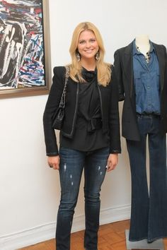 Princess Madeleine of Sweden Teams Up With Genetic Denim for World Childhood Foundation Royal Fashion, Love Fashion, Autumn Fashion, Sweden Fashion, Kate And Pippa, Best Blazer, Victoria Fashion, Royal Look, Magdalena
