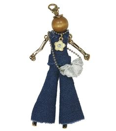 Laliberi Bohemian Doll Pendant-Denim Pantsuit Sky