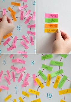 Figure out your seating chart with color-coordinated sticky notes. | 21 Clever Tricks To Make Any Wedding So Much Easier. #Wedding #Beauty #Style Visit Beauty.com for all your beauty needs.