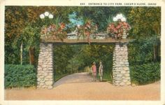 COEUR D ALENE, IDAHO Entrance to City Park CURT TEICH POSTCARD
