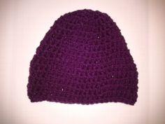 Violet Varied Rib Stitched Hand Crochet Hat by CrochetandMacrame, $15.00