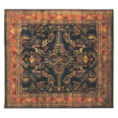 Check out this item at One Kings Lane! 9'x10' Sarouk Rug, Blue/Red