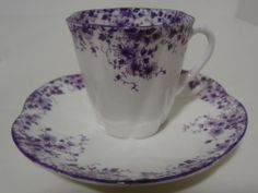 Shelley Dainty Mauve Demitasse Cup and Saucer