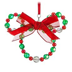 Your WDW Store - Disney Christmas Ornament - Mickey Icon Beaded Wreath Disney Christmas Crafts, Disney Crafts, Kids Christmas, Holiday Crafts, Christmas Gifts, Mickey Mouse Ornaments, Mickey Mouse Christmas, Minnie Mouse, Seed Beads