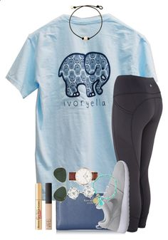 my short sleeve ivory Ella came! one in set by thefashionbyem ❤ liked on Polyvore featuring Kate Spade, NIKE, Ray-Ban, Carolee, Daniel Wellington, NARS Cosmetics and Too Faced Cosmetics