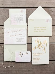 Gorgeous invitations: http://www.stylemepretty.com/texas-weddings/dripping-springs/2015/03/05/chic-spring-wedding-at-camp-lucy/ | Photography: Taylor Lord - http://www.taylorlord.com/