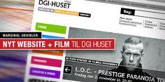 Nyt website til DGI Huset Vejle.  Designet af Ole Aakjær - www.marginal.dk  Se websitet her: www.dgihusetvejle.dk