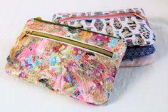 Schminktäschchen Nanami nähen Sewing School, Nanami, Needle And Thread, Coin Purse, Street Style, Wallet, Womens Fashion, How To Make, Handmade