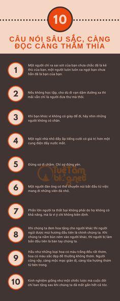 10 câu nói sâu sắc, càng đọc càng thấm thía!