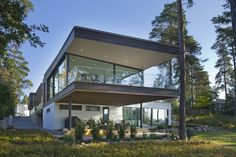 Honkatalot – Evo #habitare2015 #design #sisustus #messut #helsinki #messukeskus Helsinki, House Yard, Modern House Design, Log Homes, Habitats, Villa, Architecture, Interior, Outdoor Decor