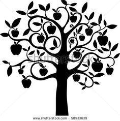 stock vector : Apple tree.