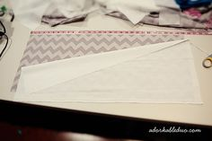 diy easy to adjust modern pleat crib skirt - this is lined with muslin instead of hemming around edges