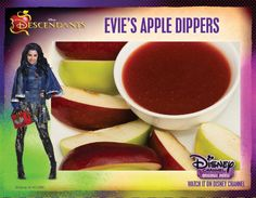 Eviies apple dippers and Drink icon disney movies Evie's Apple Dippers Recipe from Descendants Recipe Icon, Decendants, Disney Food, Disney Stuff, Disney Movies, Disney Descendants, Dipper, Evie, Quick Easy Meals