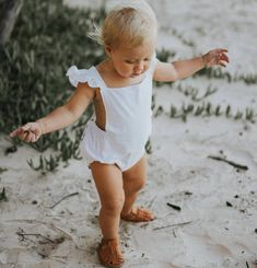 sweet baby romper| simple cotton | SwellandSolis on Etsy | #afflink ShopStyle Collective