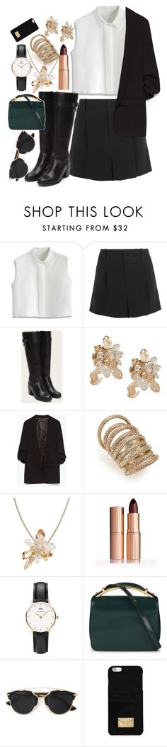 """""""Don't Ever Let it Show"""" by annanowogorski ❤ liked on Polyvore featuring Chicwish, Chloé, Atelier Swarovski, Zara, St. John, Daniel Wellington, Marni, Christian Dior, MICHAEL Michael Kors and women's clothing"""