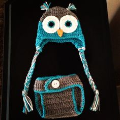 Newborn owl photography set