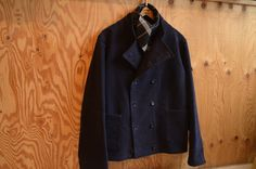Peacoat with a distinction... Navy English Moleskin fabric
